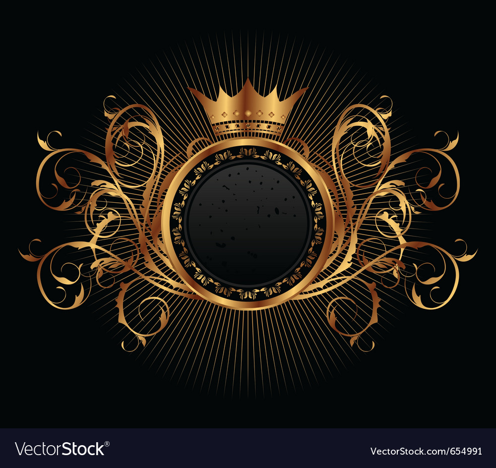 Gold vintage for design packing  vector