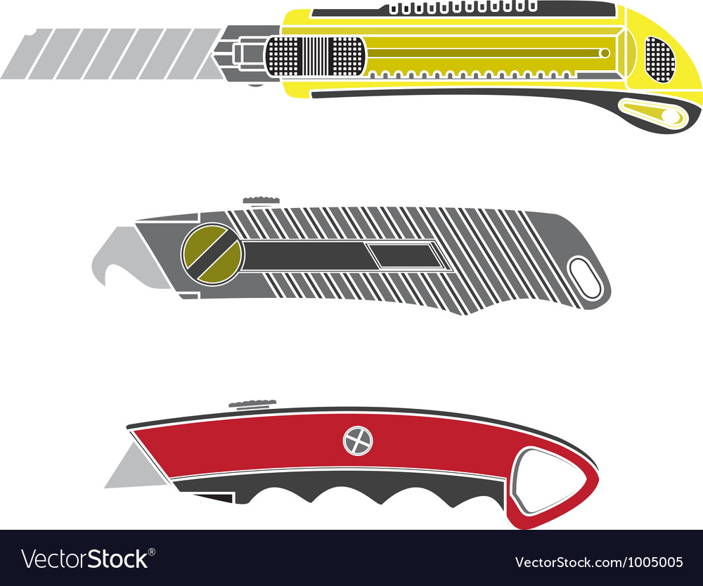 Colour cutter knifes vector