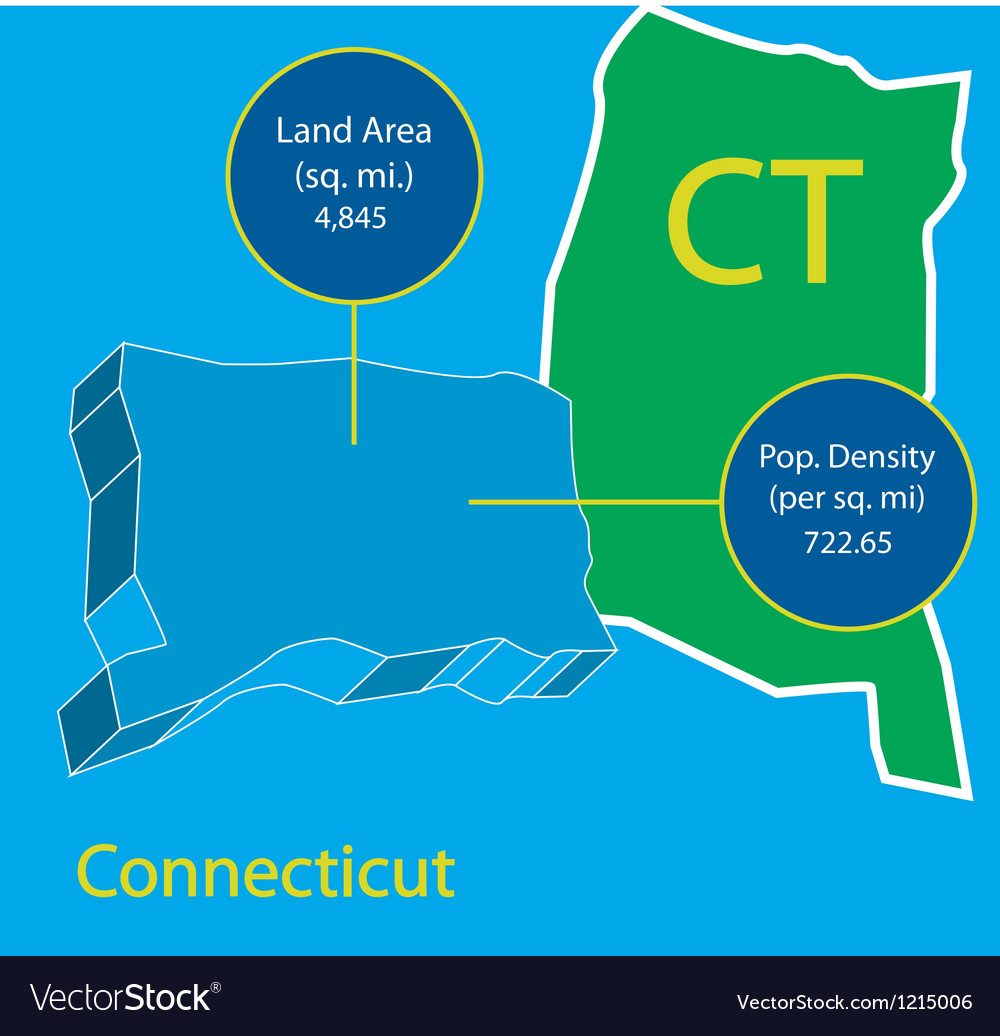 Connecticut 3d info graphic vector
