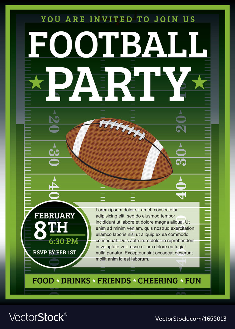 Football flyer vector