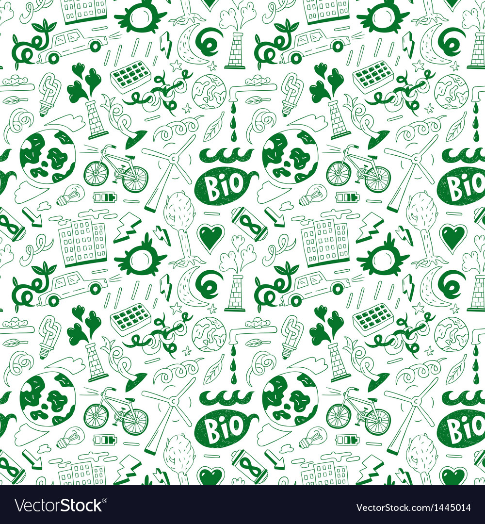 Ecology  seamless background vector