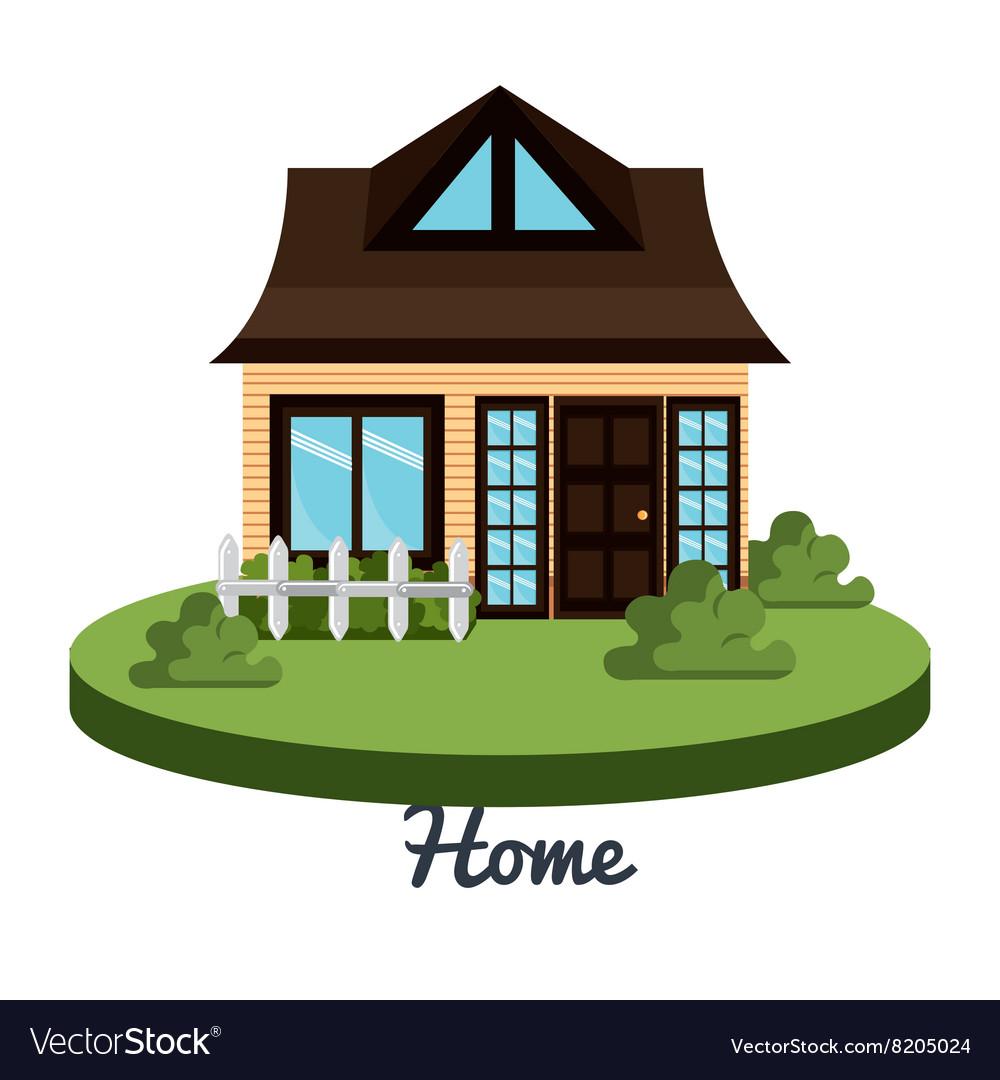 Beautiful Home Design Vector By Studiogstock Image 8205024 Vectorstock