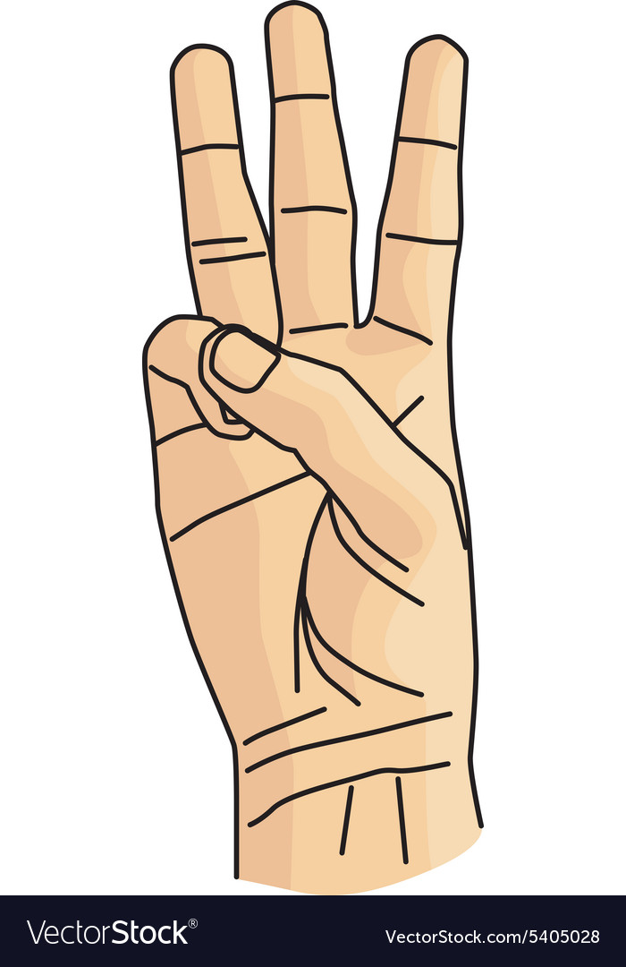 Cartoon hand gesture