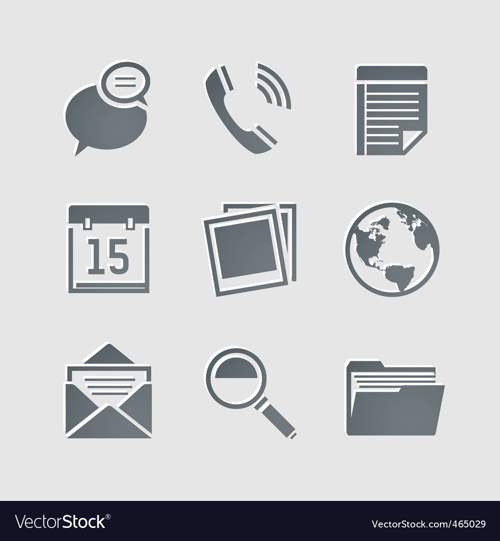 Business pictogram vector