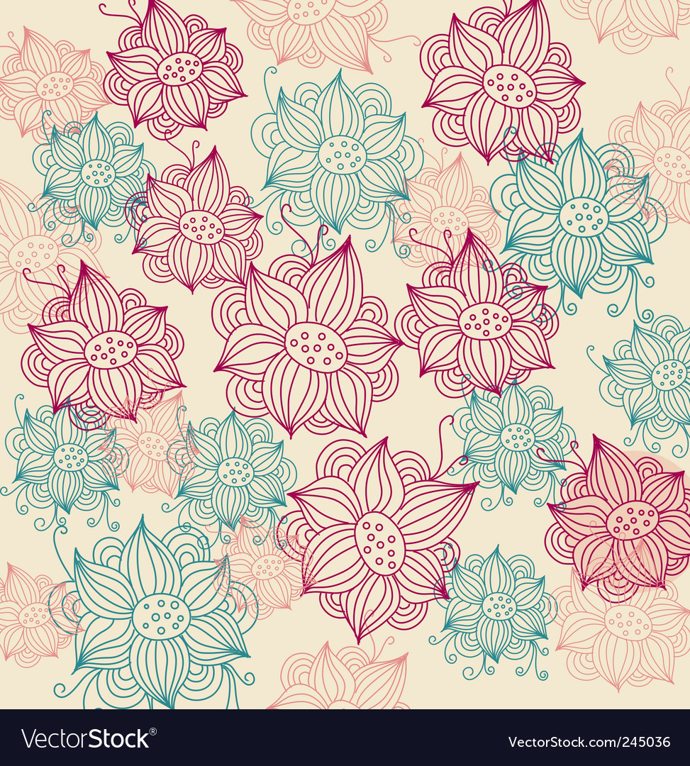 Vintage flower background vector