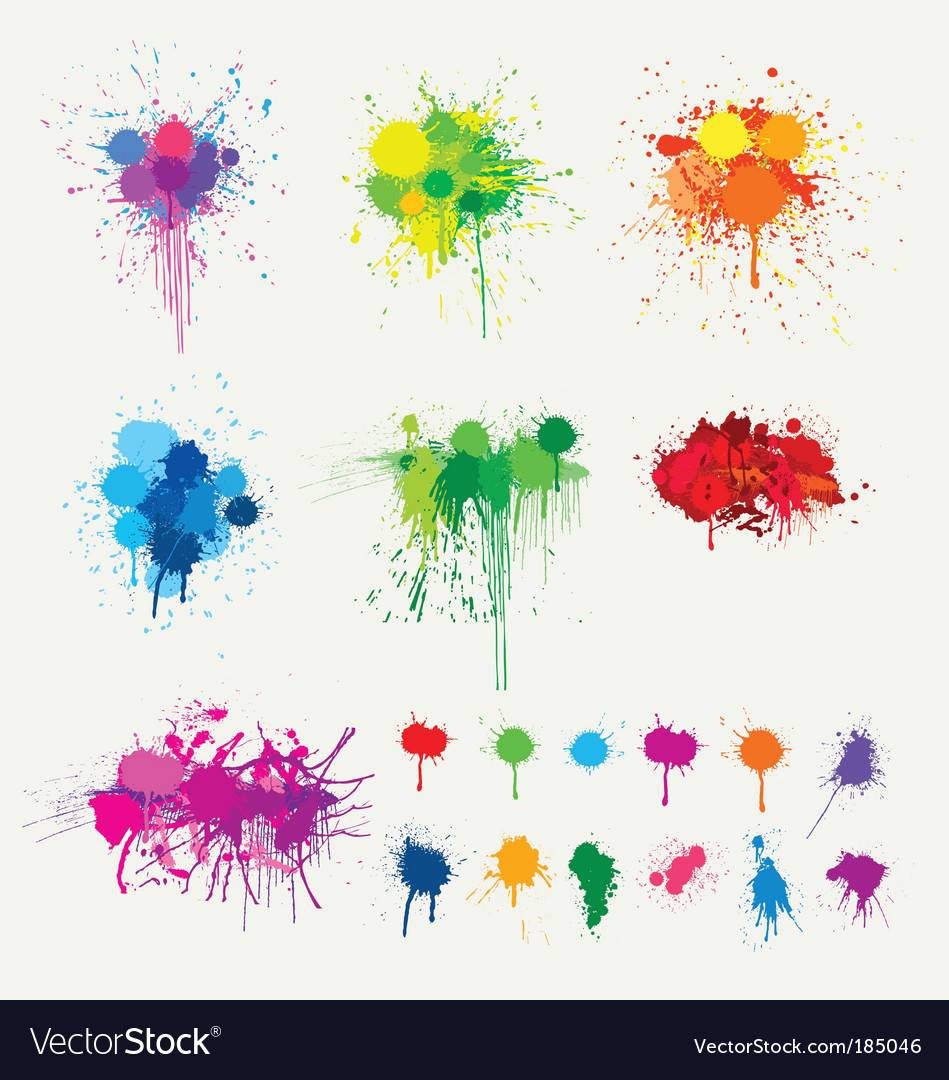 Colorful splats vector