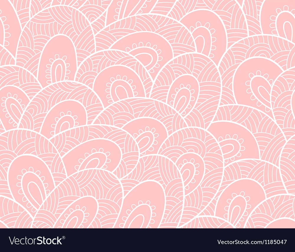 Abstract lacy seamless pattern vector