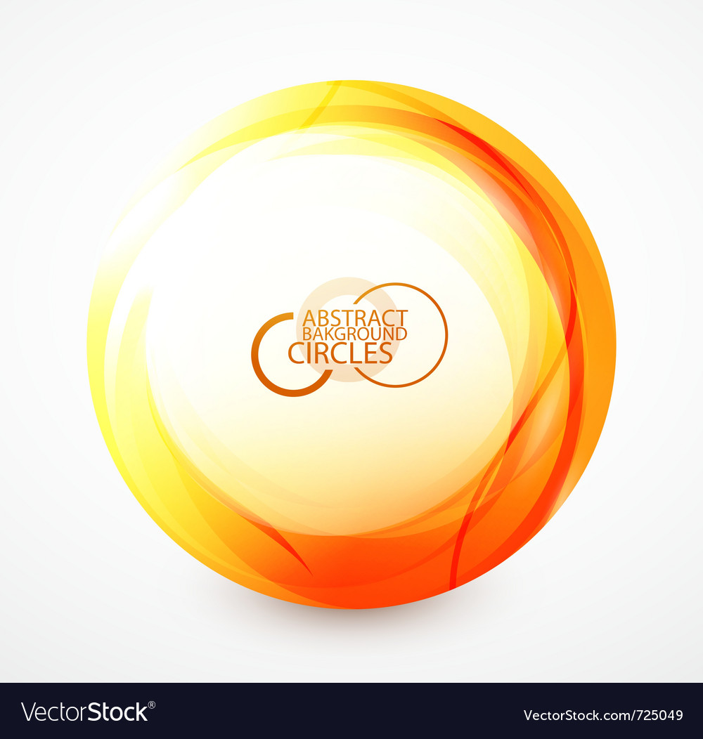 Orange sphere vector