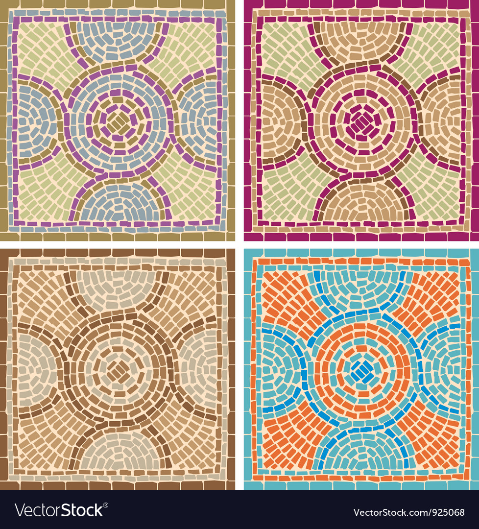 Antique mosaics vector