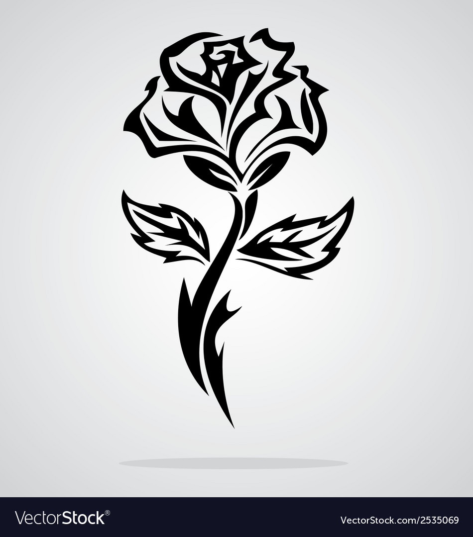 Tattoo Designs Vector Free Download: Tribal Rose Vector By VectoryOne