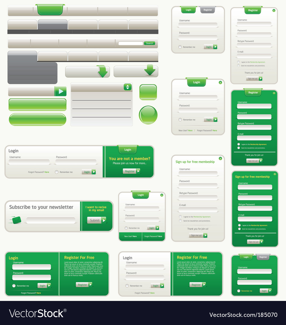 Website design elements vector
