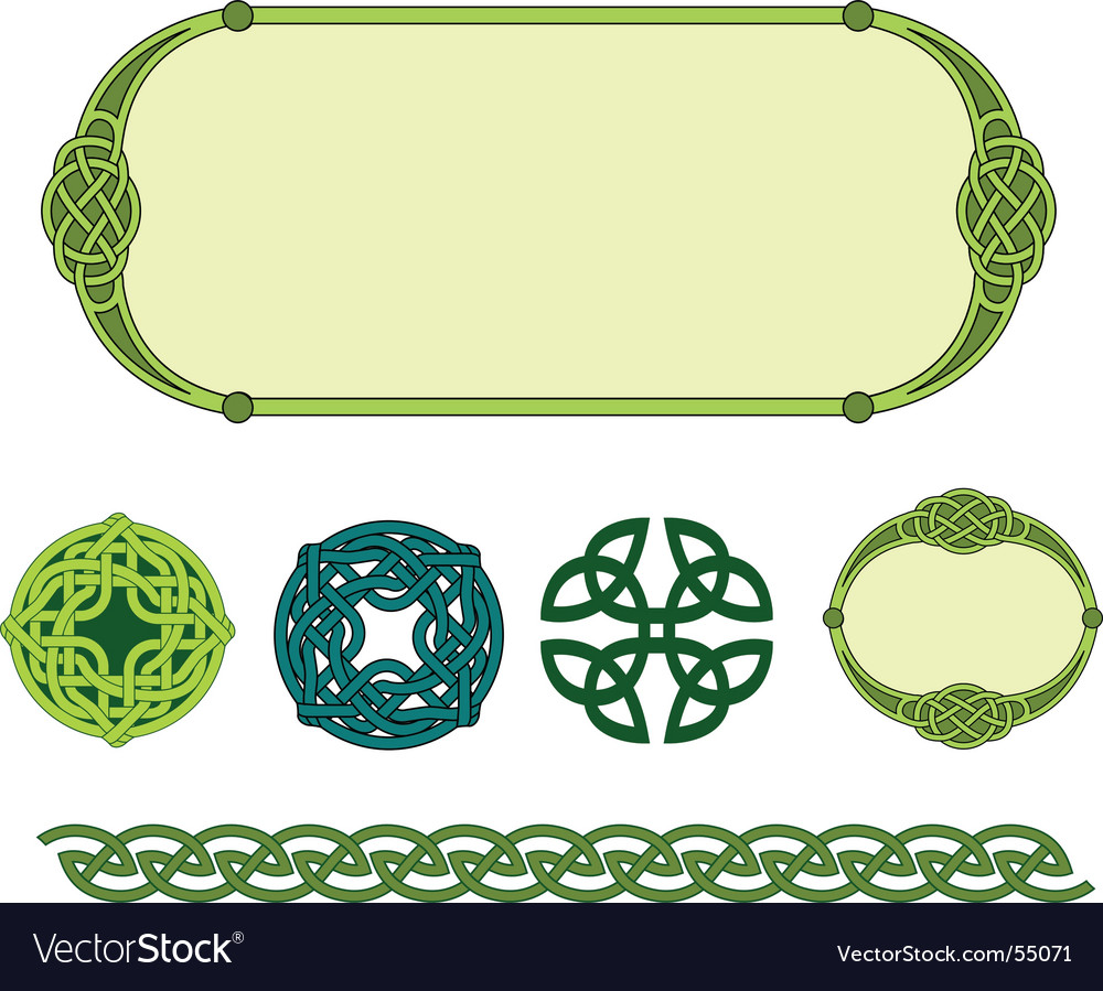 Celtic symbols vector