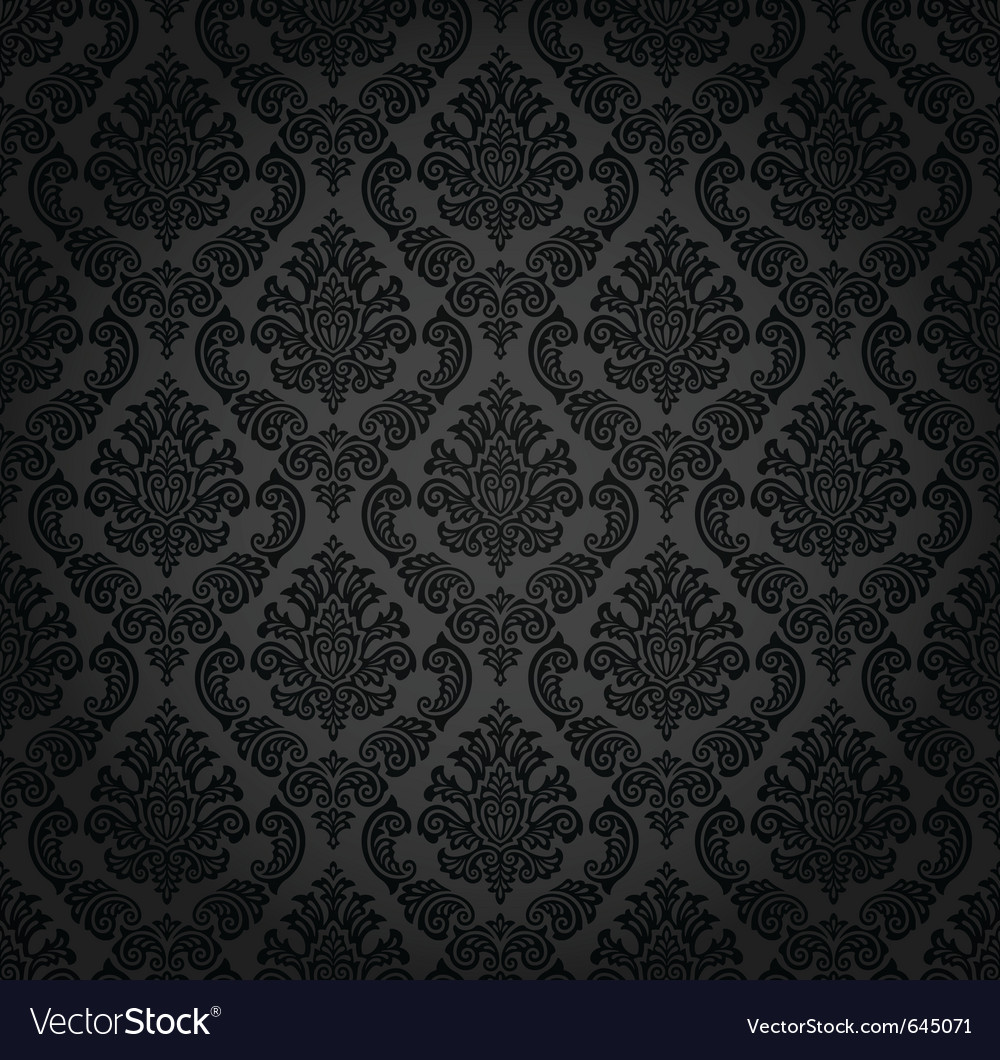 Seamless damask wallpaper vector
