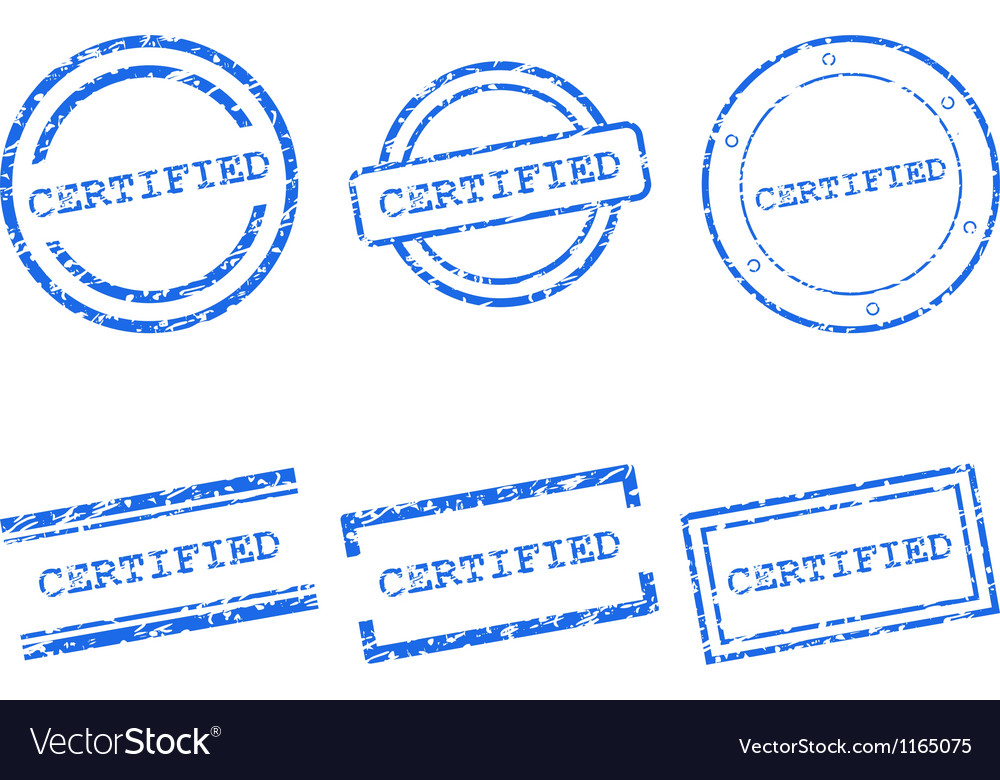 Certified stamps vector