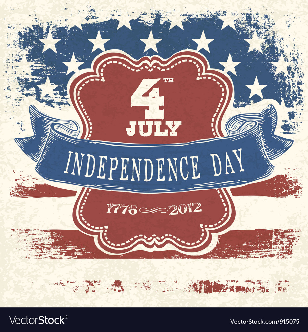 Independence day poster design vector