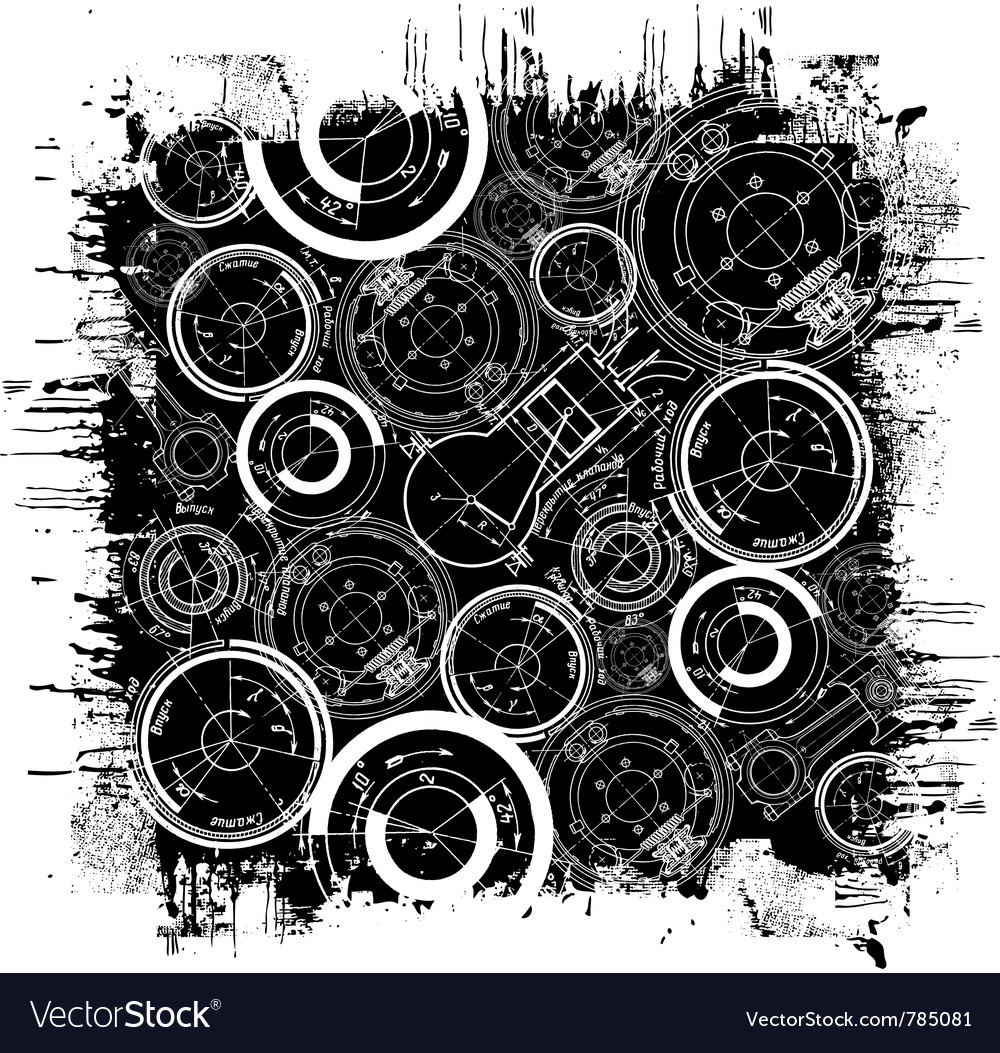 Abstract technical drawing vector