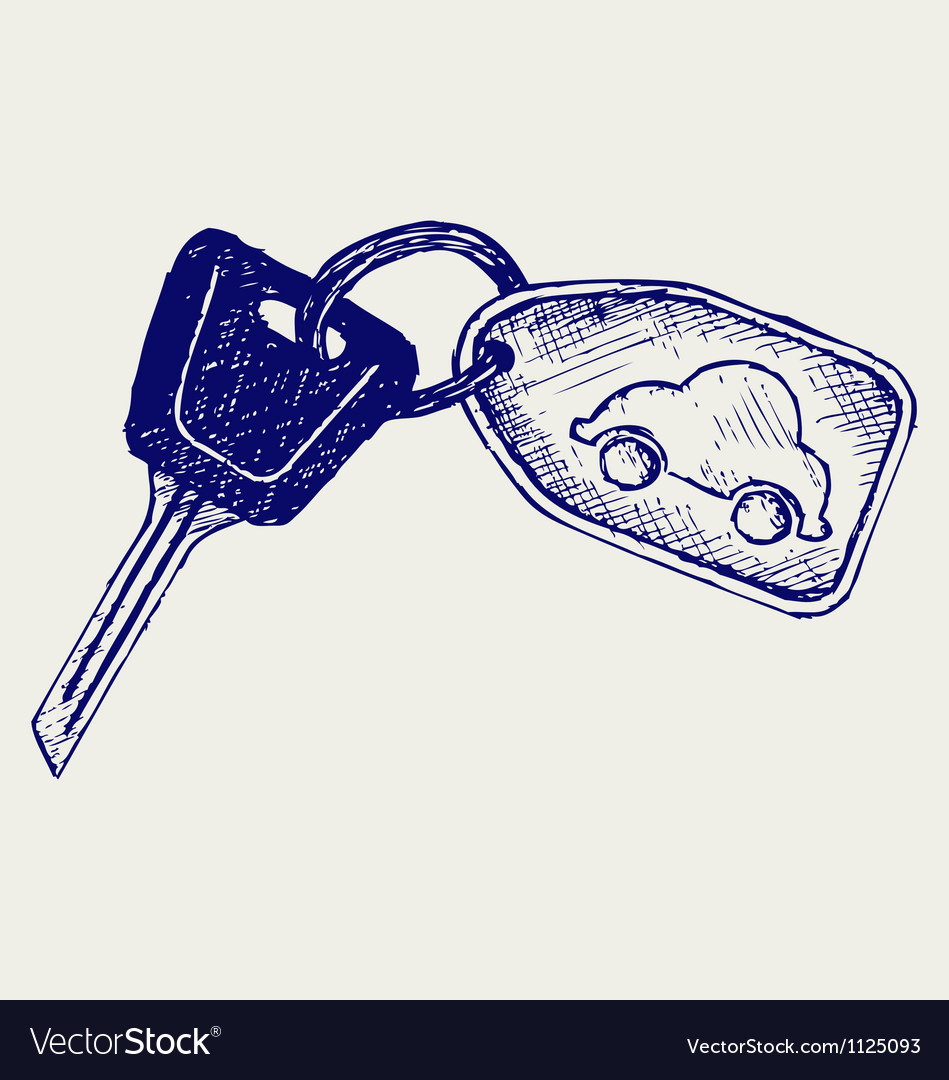Car keys vector
