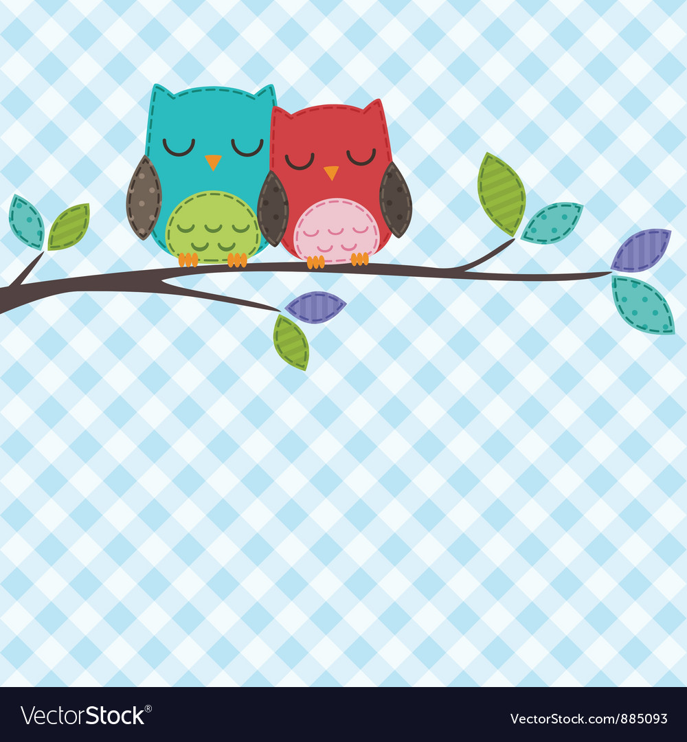 Couple of owls vector