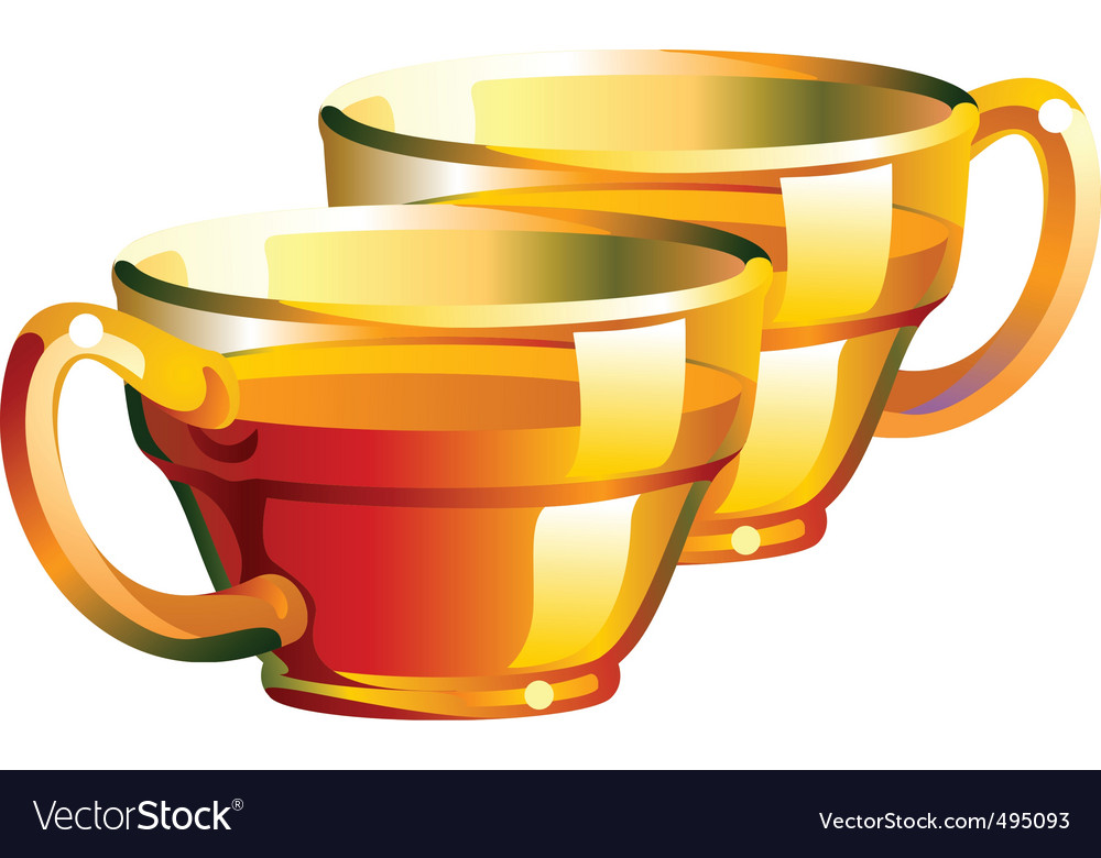 Tea cups vector