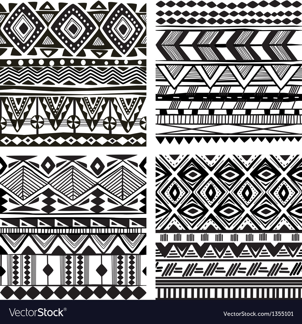 Seamless tribal texture vector