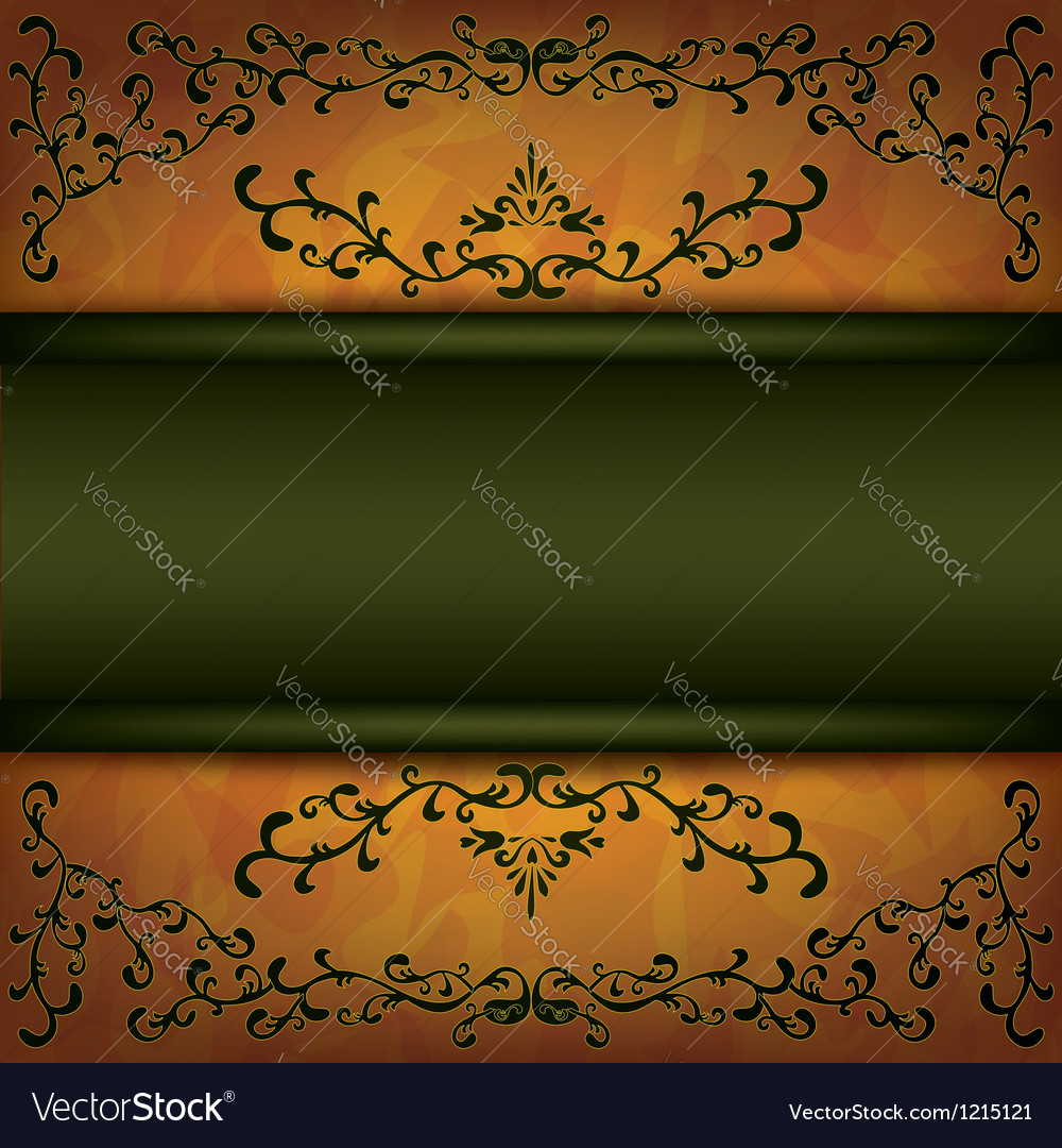 Grunge background with decorative ornament vector