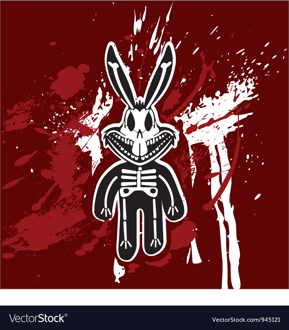 Rabbit skeleton vector