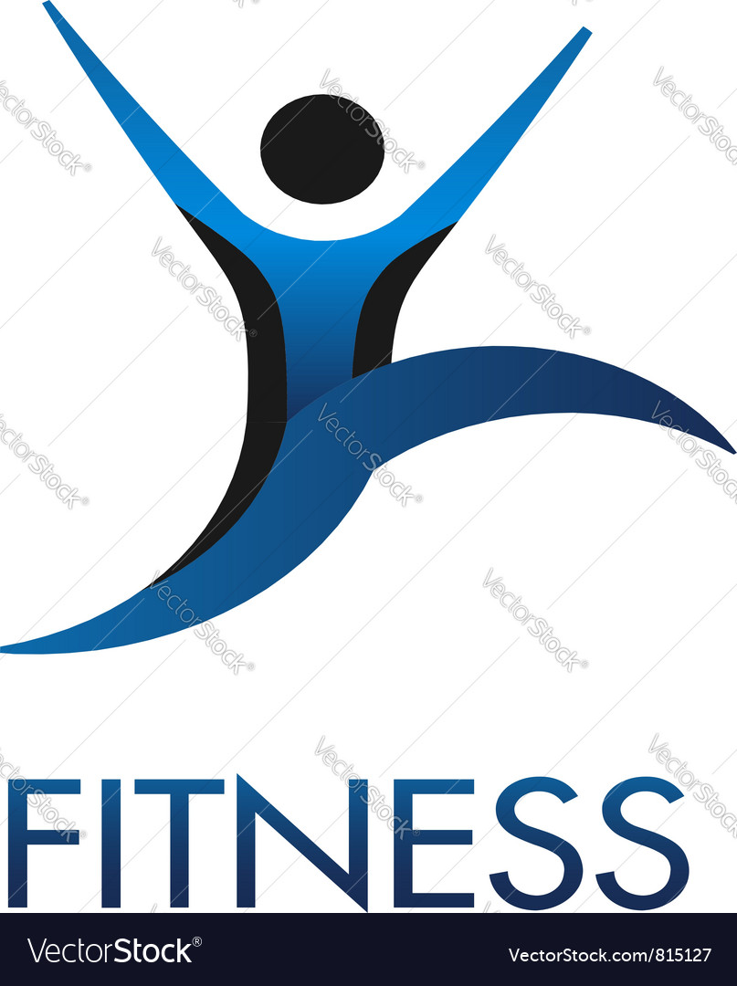 Fitness guy logo vector