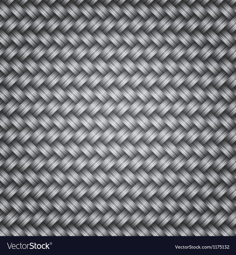 Metal fiber wicker texture background vector