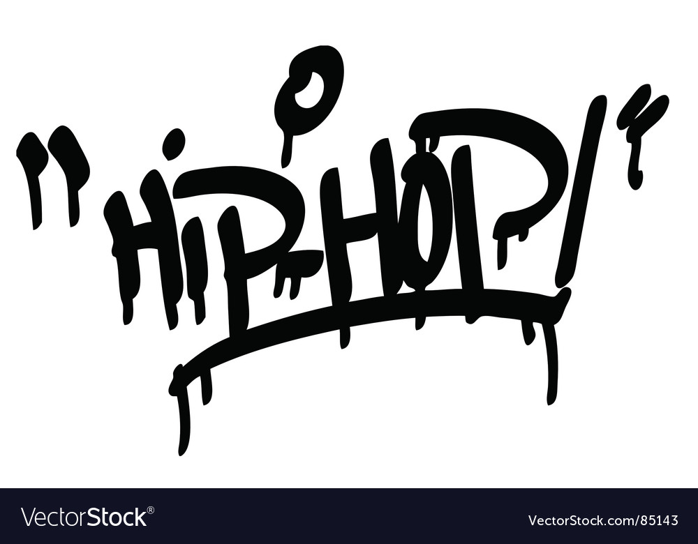 Hip hop type vector by fabregat image 85143 vectorstock