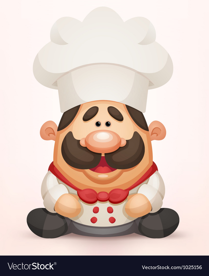 Cute chef vector