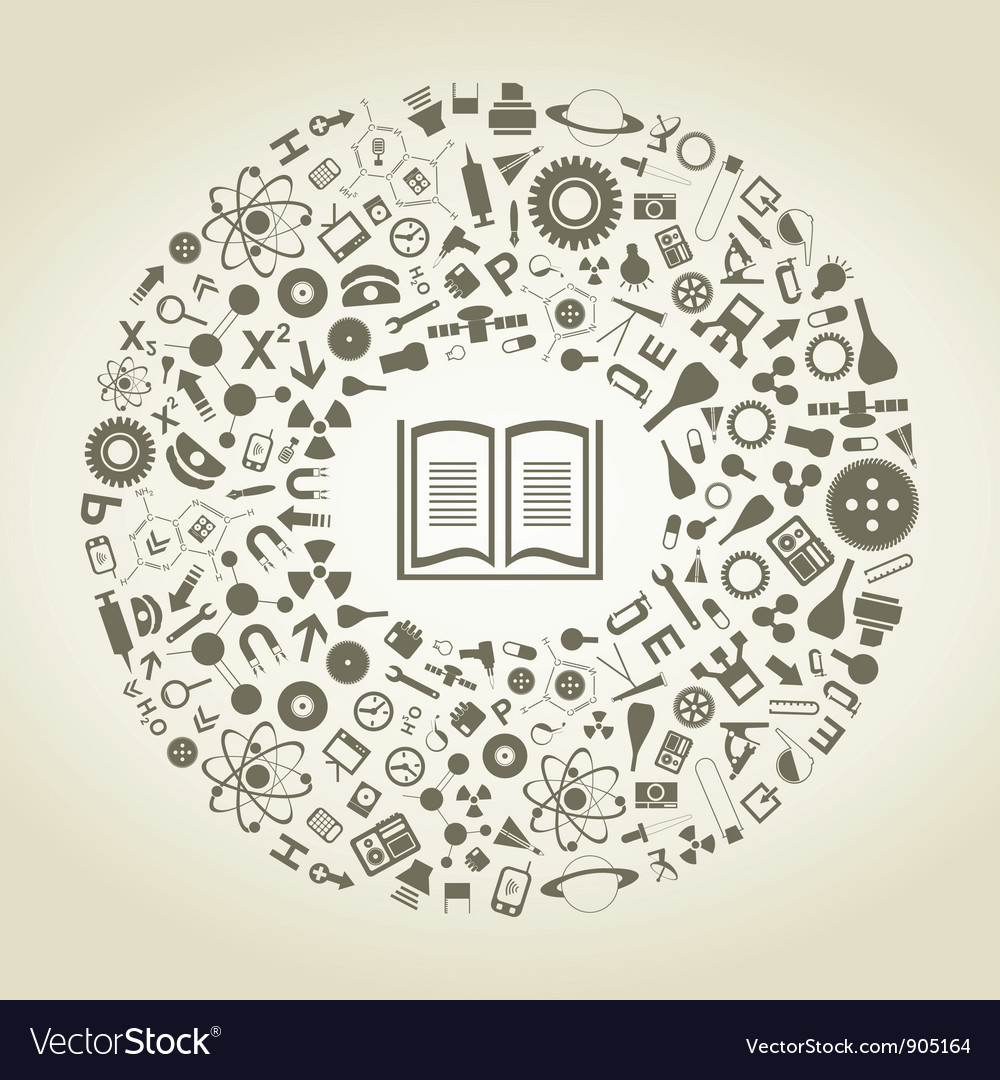 Book of sciences vector