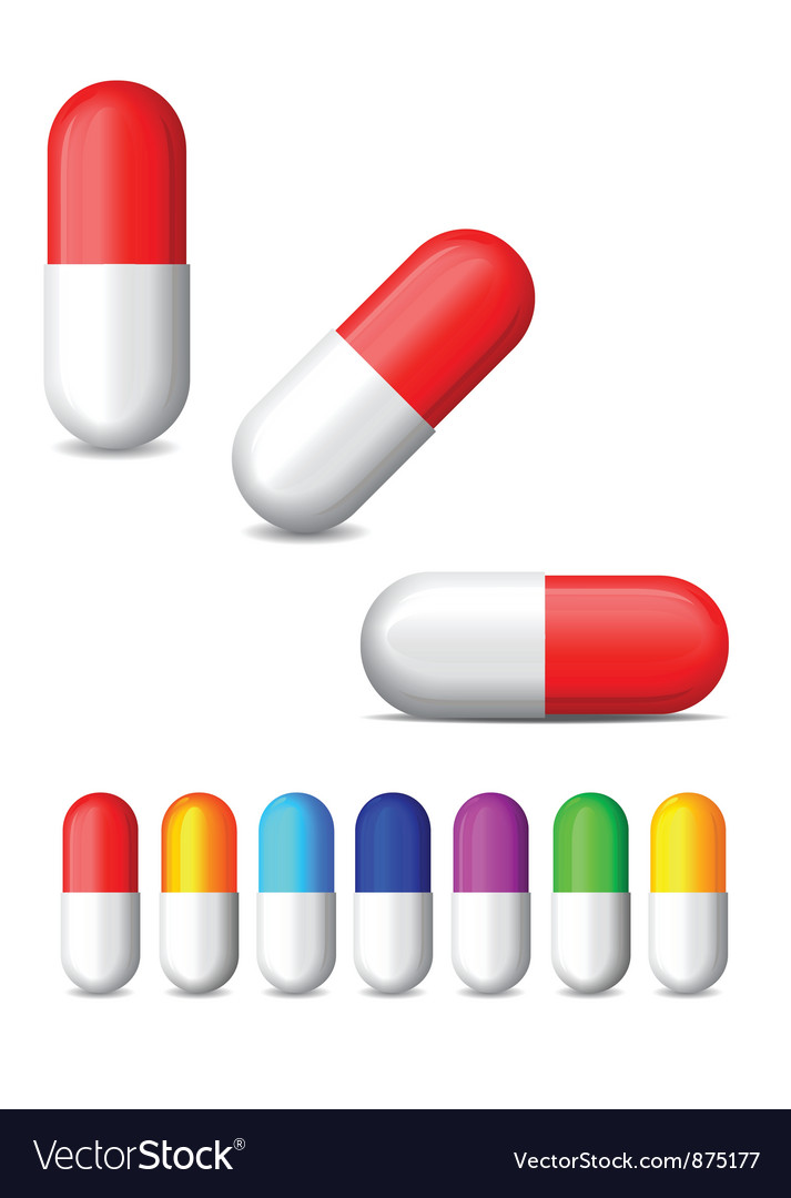 Icon of colored tablets vector
