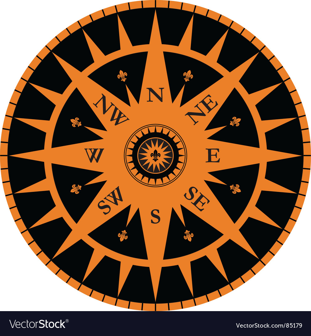Vintage wind rose vector