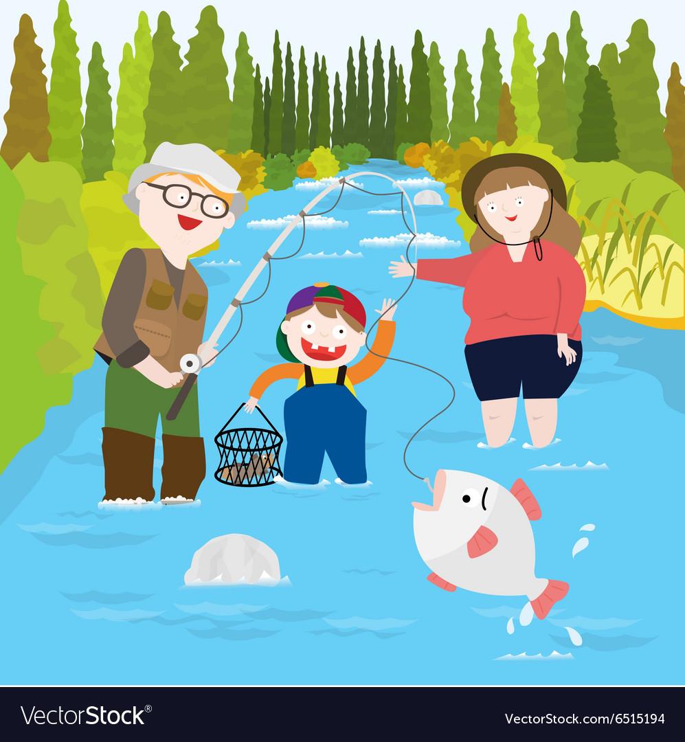 Cartoon Family Fishing images  hdimagelibcom