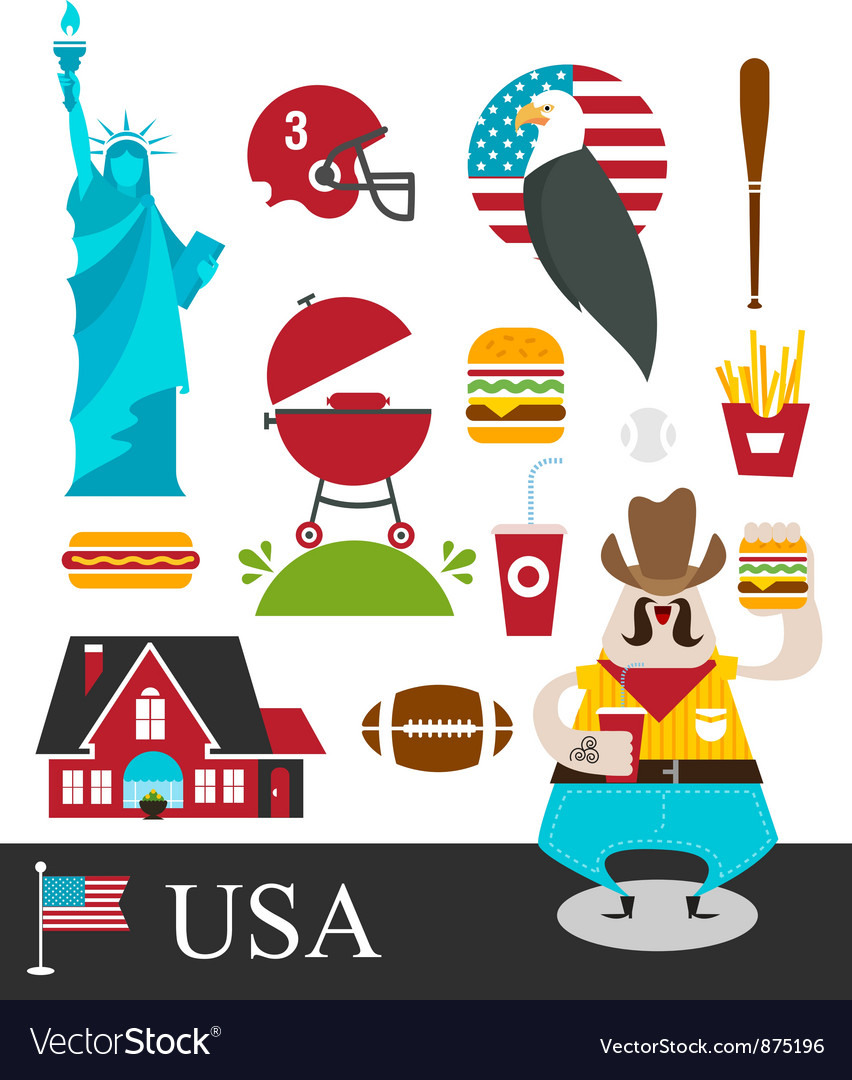 American stereotypes vector