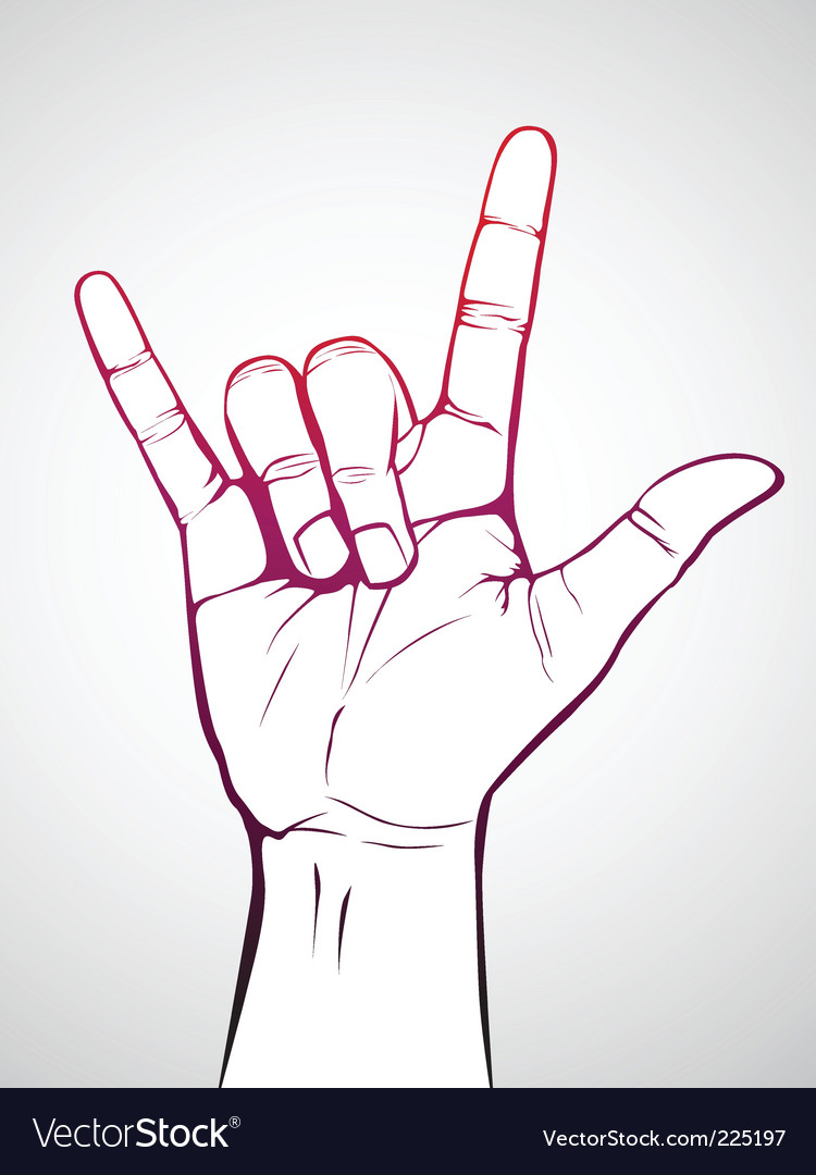 Rock sign vector