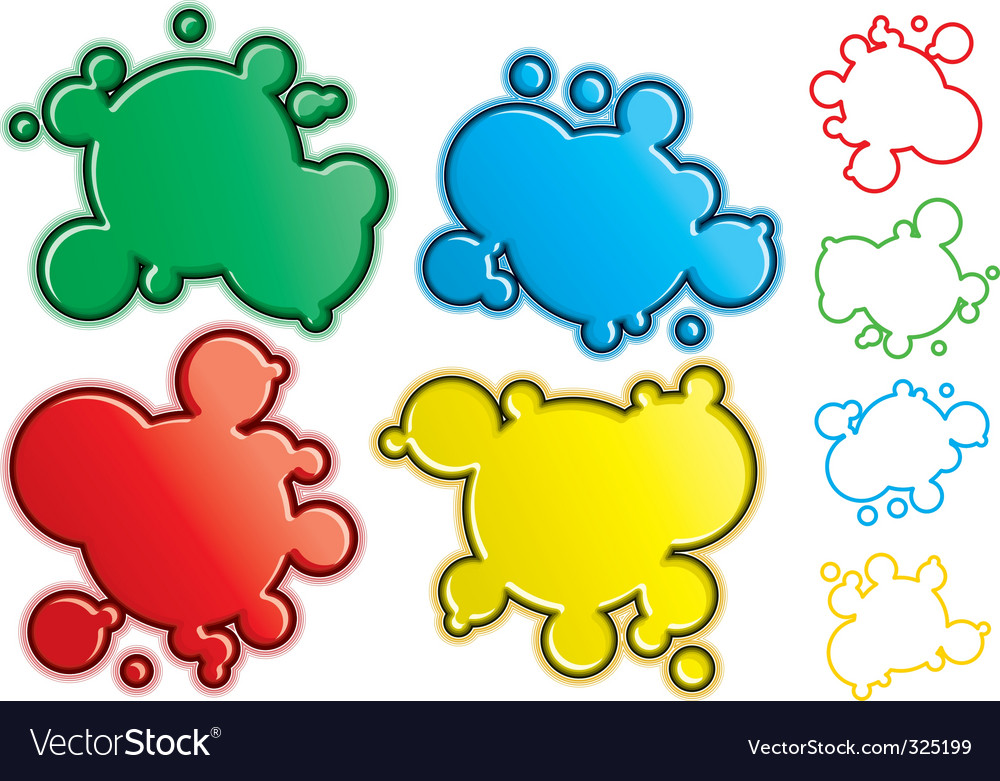 Free cartoon spatters vector