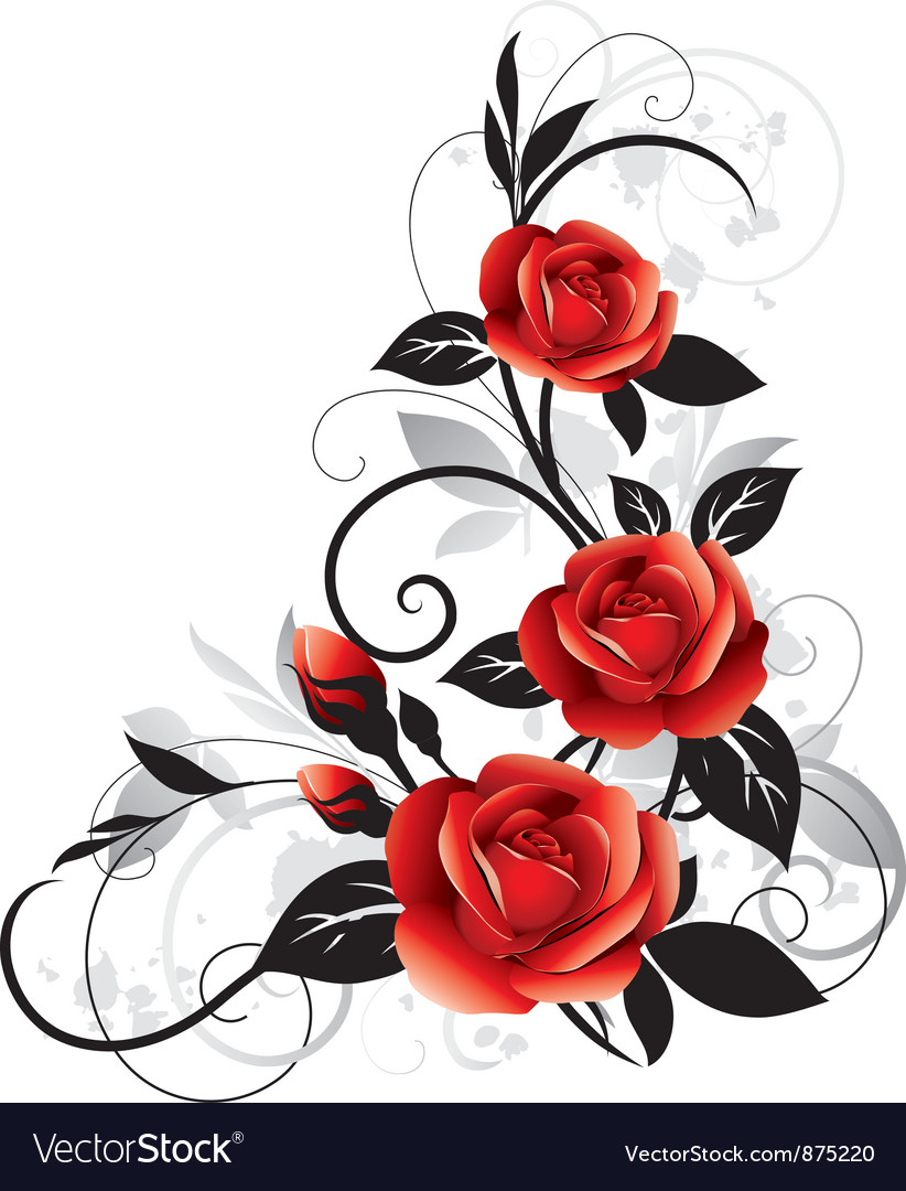 Roses decorative vector