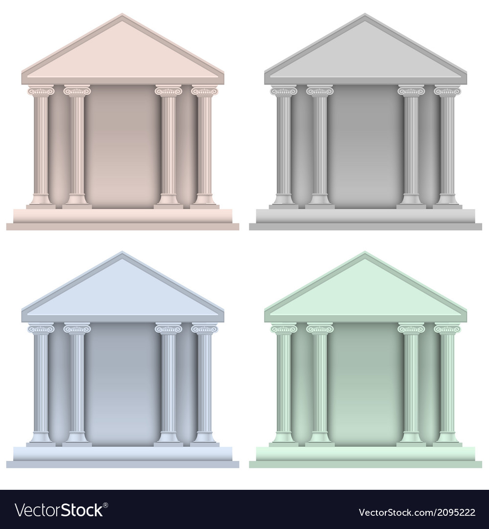 Building bank icons vector