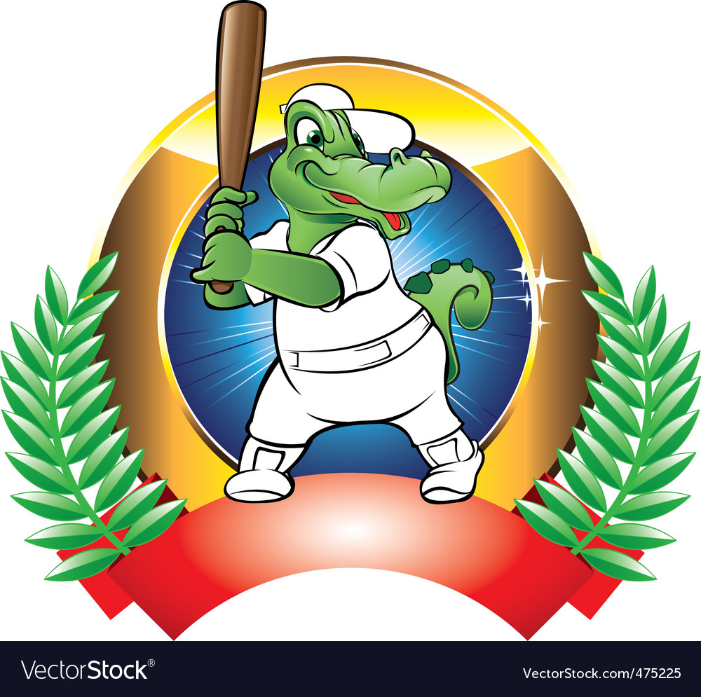 Baseball badge vector