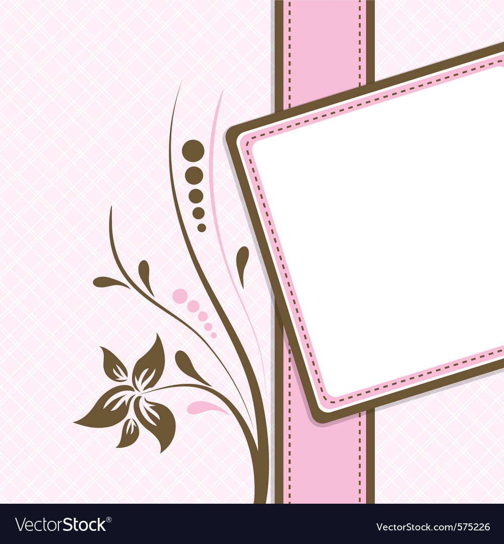 Postcard Template Greetings From: Greeting Card Template Vector By
