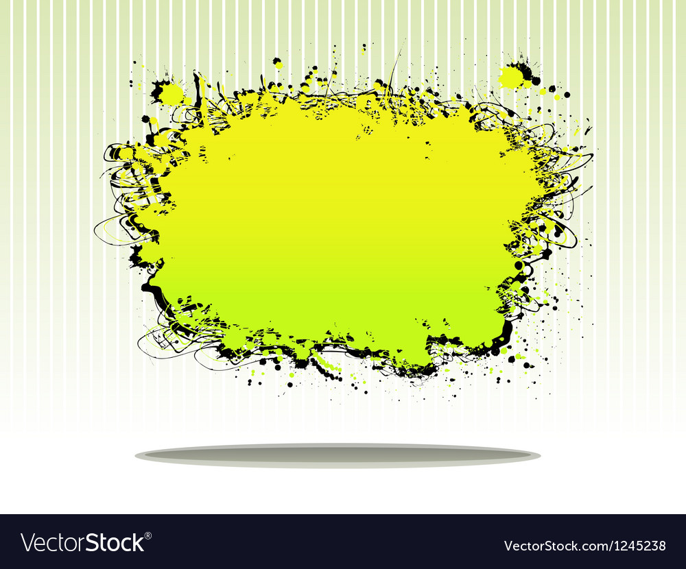 Splash plate vector
