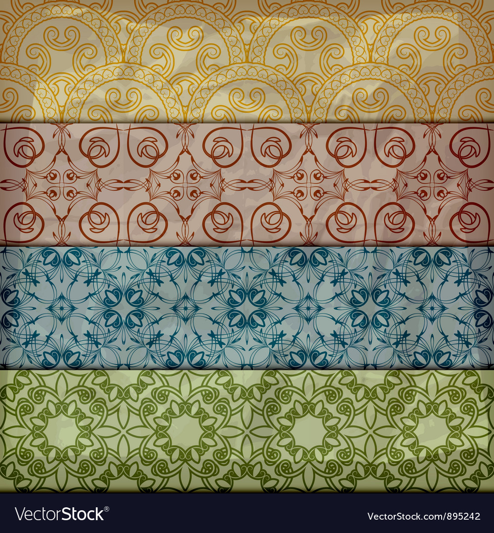 Seamless retro pattern in vintage style vector