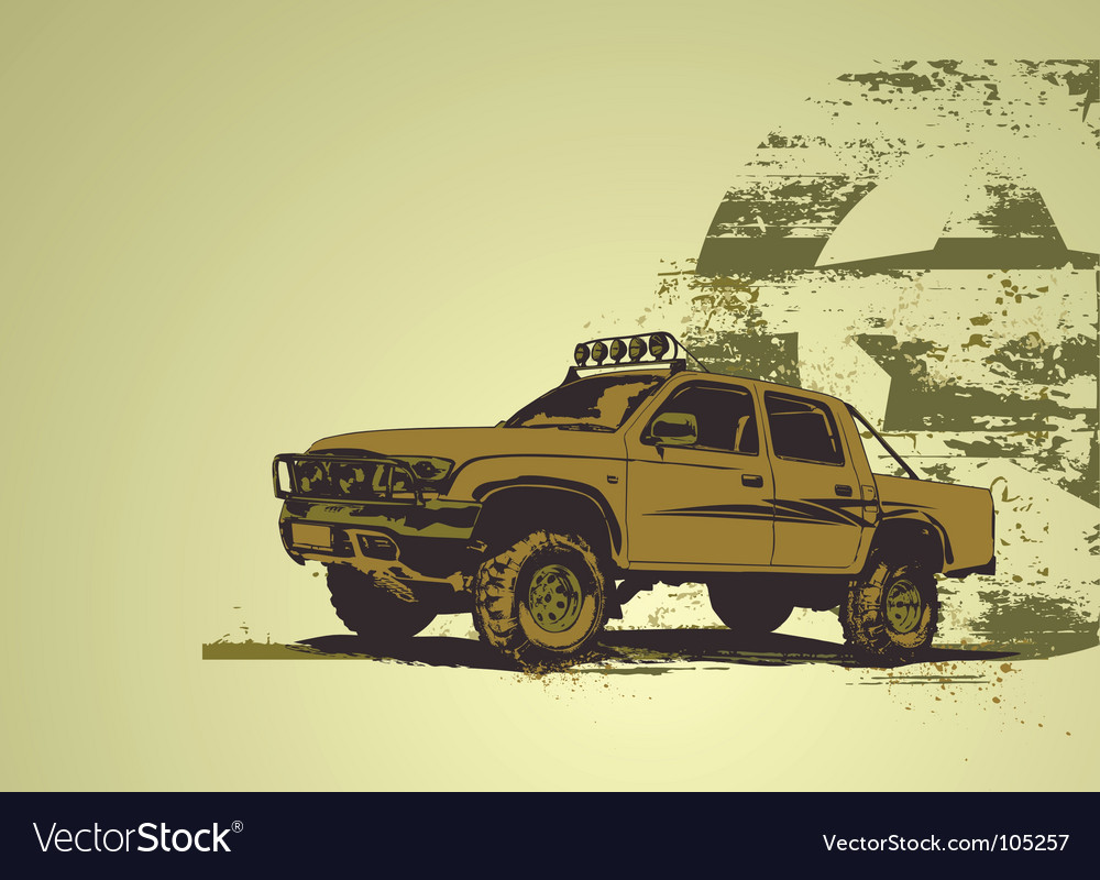 Military vehicle vector