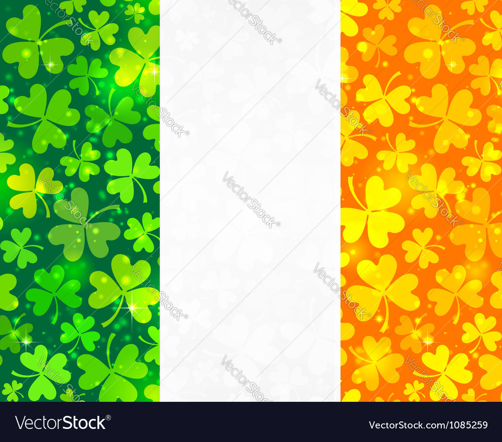 Irish flag background vector