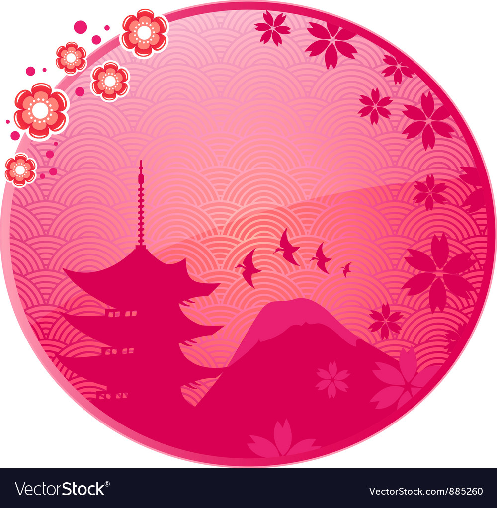 Japanese icon vector