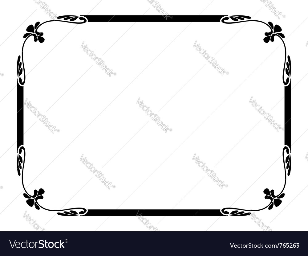 Simple ornamental frame vector
