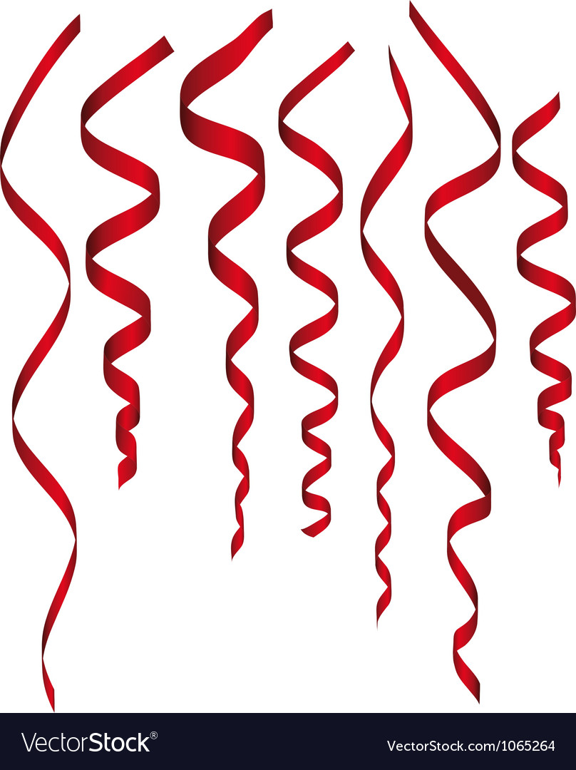Paper streamer set vector
