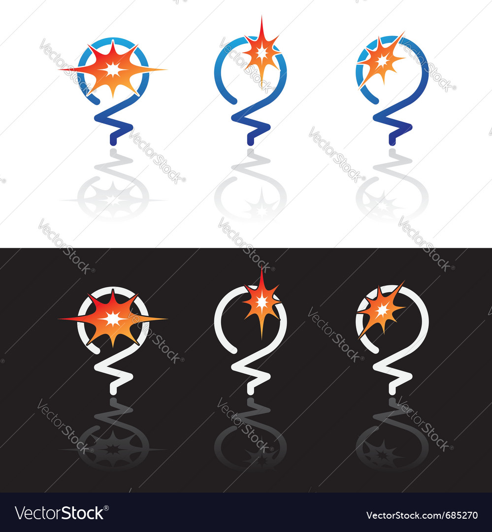 Light bulbs symbols vector