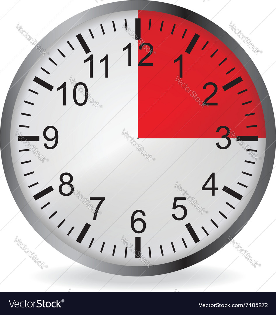 Clock with red 15 minute deadline vector by orelphoto - Image ...